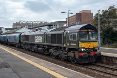 GBRF 66779 (Mike McNiven) Tags: gbrf gbrailfreight railfreight liverpool biomass drax altrincham diesel loco locomotive trafford rail railway greatbritain eveningstar evening star