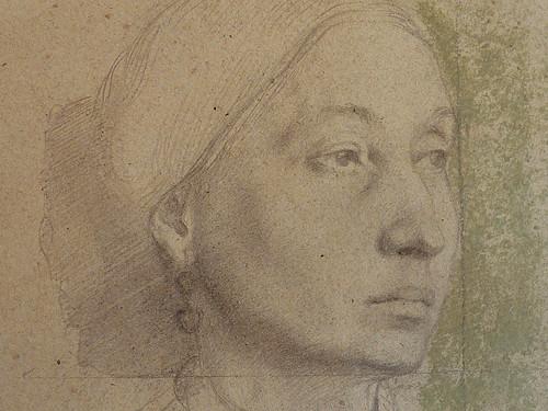 DEGAS Edgar,1858-67 - La Famille Bellelli, la Baronne Laura Bellelli, Etude (Louvre RF11688) - Detail 26