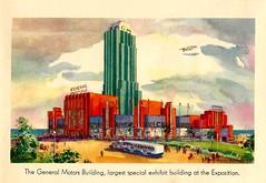 A Century Of Progress Exposition, Chicago 1933, Published By The Reuben H. Donnelley Corporation, Official View Book - The General Motors Building (France1978) Tags: javoue que je ny connais rien mais cette machine de « la gueule »