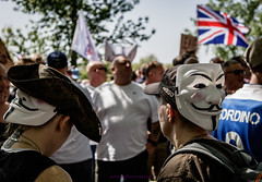 IMG_8554 (KitsuneUK) Tags: london protest tommy robinson photo photojournalism journalism canon bnw bw black adobe film