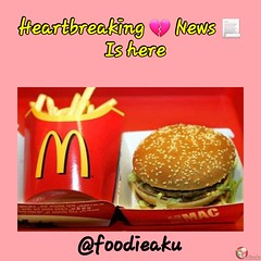 Heartbreaking food news for burger lovers: foodieaku (foodieaku) Tags: aboutfood burger cheeseburger food foodarticles foodblog foodfacts foodnews foodquiz foodeaku foodeiaku foodieaku macdonald macdonalds mcdonalds mcdonaldsapp mcdonaldsburger mcdonaldsindia mcdonaldsnews mcdonaldsonline mcdonals news