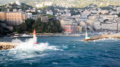 Le Vieux Port (Wilco1954) Tags: breakers bastia corsica oldport corsicaferries windy harbourlights waves