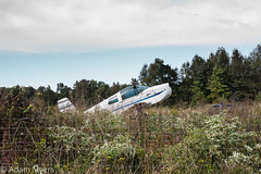 Abandoned airplane in a field in Eastern Shore, Maryland (adamkmyers) Tags: plane abandonedplane easternshore delmarva