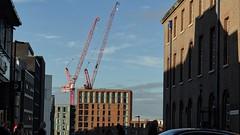 Construction. Oct 2018 (SimonHX100v) Tags: sheffield citycentre city buildings construction crane cranes streetphotography street streetstyle streetpeople sky simonhx100v sonyhx100v hx100v bridgecamera southyorkshire