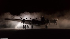 Lancaster Bomber (Articdriver) Tags: royalairforce raf aircraft airfield aircrew lancaster heavybomber bombercommand mist night lincolnshire eastkirkby nx611 justjane