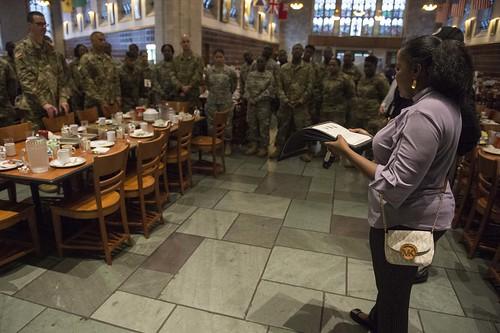 Major General Allan Harrell tours the U.S. Military Academy