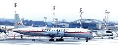 SP-FNB and RA27015 WAW 180293 (kitmasterbloke) Tags: waw warsaw warsawa lot polska poland 1993 ilyushin yakelov airport aircraft outdoor snow cold freezing aviation il18d