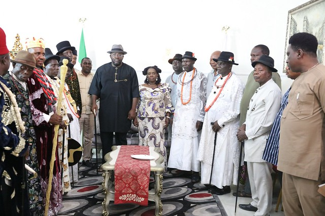 Condolence visit by Angiama communities in Delta