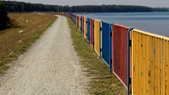 Colorful fences (HansPermana) Tags: rybnik poland polen polska eu europe europa september 2018 autumn