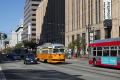 1059 - Market & 10th (imartin92) Tags: sanfrancisco municipal railway california muni pcc trolley streetcar rail transit bostonelevated