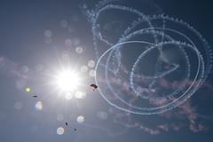 Black Daggers (Trent Bell) Tags: huntingtonbeach california socal 2017 airshow huntingtonbeachairshow skydivers sun blackdaggers parachutedemoteam army
