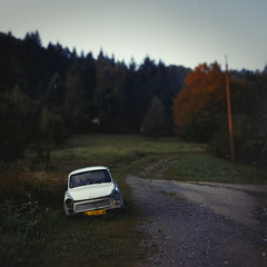 It's the End of the Road (Fuji and I) Tags: trabant car mountains bulgaria chiflik travel alexarnaoudov fujix vintage
