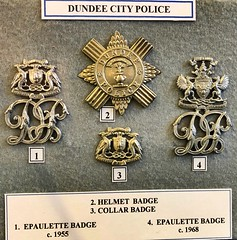 Glasgow Police Museum - Glasgow Scotland - 2/10/18 (DanoAberdeen) Tags: police museum history olddays vintage memorabilia candid amateur medals cap insignia 2018 enforcement policescotland strathclydepolice badge pin plaque sempervigilo bluelights bobbies oldbillauthority policeofficer woman man law justice barlinnie emergencyservices scottish force ranking constable chief 60s 70s 80s glasgowpolicemuseum glasgowscotland handcuff handcuffs restrained detained guilty