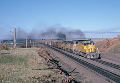 UP 3412 East at Sherman, WY (thechief500) Tags: overlandroute railroads up shermanhill unionpacific sd402 emd