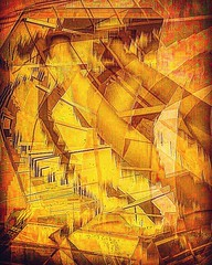 """Cube Descending a Staircase"" (Paul Ewing) Tags: modernism abstractart abstraction abstractexpressionism panoramasabotage panosabotage roguepano panoramaglitch panoglitch icm intentionalcameramovement cubism neocubism contemporaryart abstractionism"