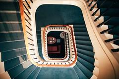 Invitation (Tom Levold (www.levold.de/photosphere)) Tags: fuji x70 architektur architecture staircase poznan posen treppenhaus