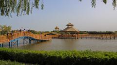 Bosten Lake 博斯騰湖 (YY) Tags: bridge lake pavilion bostenlake 博斯騰湖 新疆 china bayingol 巴音郭楞 巴州 tarimbasin xinjiang