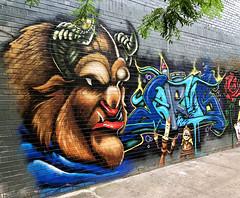 Beast by Menace Resa (wiredforlego) Tags: graffiti streetart urbanart eastvillage manhattan newyork nyc mural aerosolart menaceresa disney