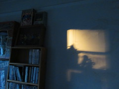 Wall Shadow DVD Shelf and Masks 2475 (Brechtbug) Tags: 2018 october cloudless evening sky nyc virtual clock tower from hells kitchen clinton near times square broadway new york city midtown manhattan 10112018 stormy weather building no hanging cumulonimbus blue cumulus nimbus cloud fall hell s nemo southern view ny1 wall shadow dvd shelf masks space future bender android androids mechanical man men automaton metal tintoy toy toys grey cartoon animation tv television show futuristic shadows