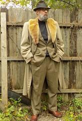 10-11-2018 Today's Clothes (Michael A2012) Tags: this mans autumn style vintage fashion champ fedora hat fur felt 1950s 1940s zero king wool gavardine storm coat mouton lamb alpaca pile jones new york v2 versace roblee
