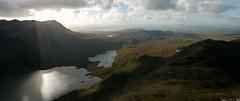 Sheeffry Hills (Cnoic Shiofra), Mayo: descending to Doo Lough (Mumbles Head) Tags: mountains mayo ireland sheeffry barrclashcame