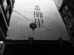 Chinatown wall. (Mark Cacovic) Tags: iphone bw yyj canada bc victoria fantanalley alley chinatown