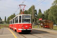 2018-09-11, Mazyr, Internatsionalnaya (Fototak) Tags: tram strassenbahn mazyr belarus ktm5 004 005