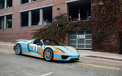 Gulf. (Alex Penfold) Tags: carweek 2018 america us car week supercars super autos alex penfold california monterey porsche 918 cars gulf blue orange