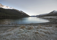 A Frosty Start (fantommst) Tags: lisaridings fantommst mavora lake southland nz newzealand frost mountains snow waterscape landscape early morning solitude peaceful cold nationalpark conservation mavoralakes