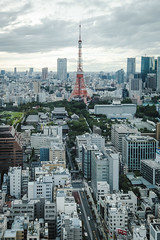 Tokyo Tower (Flutechill) Tags: tokyotower tokyo tokyoprefecture cityscape japan urbanskyline urbanscene skyscraper famousplace architecture tower city minatoward builtstructure buildingexterior aerialview asia downtowndistrict roppongi shinjukuward citylife