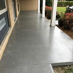 GraniFlex Porch- Zion Pros- Peoria, IL (Decorative Concrete Kingdom) Tags: decorativeconcrete porch epoxy epoxyflooring epoxycoating epoxychip graniflex waterproof peoria illinois