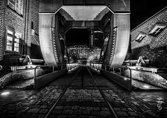 Bremerhaven by Night (Bajazzo70) Tags: bremerhaven klimahaus longexposure langzeitbelichtung schwarzweis einfarbig monochrom nikond7200 nikon nordsee