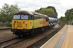 COLAS Rail 56094 - Mansfield Woodhouse (the mother '66' 66001) Tags: colasrail colas class56 56090 56094 mansfield mansfieldwoodhouse robinhoodline nottinghamshire rhtt 6j89 toton leaf leafbusting grid freight rail railways 2018