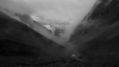 Alpine valley (Goran Joka) Tags: alpinevalley alps austrianalps valley mountainvalley austria mountain mountaineering grossglockner nature landscape outdoor blackwhite blackandwhite monochrome