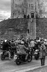 Distinguished Gentlemans Bike Ride at Cliffords Tower York! (Missy Jussy) Tags: cliffordstoweryork cliffordstower york distinguishedgentlemansbikeride historicalcity historical charity city citylife sky clouds people mentalhealthawareness men prostratecancerawareness steps building historicaltown road bike motorbike triumphbonnevillet120black grass tower mono monochrome blackwhite bw blackandwhite 70200mm ef70200mmf4lusm ef70200mm canon70200mm canon 5d canon5dmarkll canon5d canoneos5dmarkii