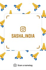 example of nametag for Instagram (Sasha India) Tags: instagram nametag instatag tag name sashaindia дизайн qrcode design 設計 디자인 التصميم σχέδιο डिज़ाइन வடிவமைப்பு desenhar projekt עיצוב desain namaste