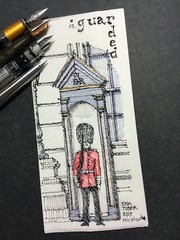 Inktober 2018. Day 13 - Guarded (schunky_monkey) Tags: penandink ink pen fountainpen illustration art drawing draw sketching napkinsketch sketch napkin watchman onduty guard guarded inktober2018 inktober