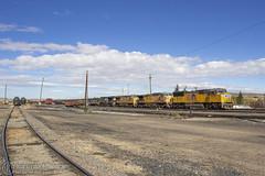 Evanston Yards (Josh 223) Tags: up4007 gecx7007 demonstratorunit unionpacific generalelectric freighttrain evanstonsubdivision railroad railway train evanston wyoming up manifest up5179 yard
