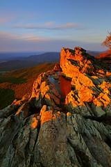 Little Stony Man: Sunset magic (Shahid Durrani) Tags: little stony man shenandoah national park virginia sunset