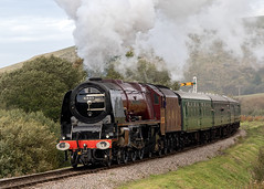 LMS Princess Coronation Class 6233 Duchess of Sutherland (chaz jackson) Tags: 46233 duchessofsutherland lmsprincesscoronationclass lms pacific 462 locomotive train engine steam swanage corfe