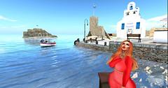 Amazed (CleoGaia) Tags: greece blue sea water mediterranean mediterraneo amazing amazed views sl secondlife catwa ginger picoftheday