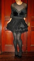 goth2 (sensuousPH) Tags: goth lolita bodysuit velvet pantyhose tights crossdresser satin pumps heels leotard mocksuspendertights maryjanes