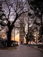 P1010164 (cengiz ulutas) Tags: morning morningcolours bursa city urbanphotography citywalk morningwalk winter oldtown panasonic panasonicg80 lumix lumixphotography microfourthirds mft clocktower dawn colours tree street
