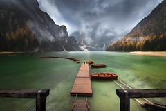 Lago di Braies (Tyrol) (Mathulak) Tags: dolomites dolomiti tyrol tirol mathulak braies lago pragser wildsee boats d850