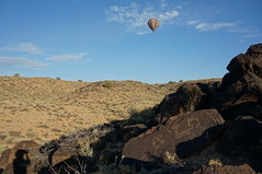 """Hi"" from across time (rovingmagpie) Tags: newmexico albuquerque petroglyphnationalmonument petroglyphs petroglyph rockart balloons balloon summer2018 shadowselfie selfie"