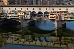 Ponte Vecchio bridge, Florence (Leaning Ladder) Tags: italy italia tuscany florence firenze pontevecchio bridges river water reflections canon 7dmkii leaningladder