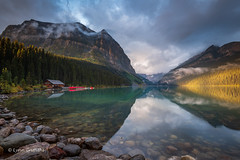 Lake Louise - a bit of sun D85_4541.jpg (Mobile Lynn) Tags: water rock moody lake landscape mountain landscapephotography outdoorphotography improvementdistrictno09 alberta canada ca coth coth5