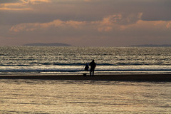 Night fishing (pbr53) Tags: wales unitedkingdom gb gower rhossilibeach angler sunset