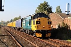 COLAS Rail 37025 - Mansfield (the mother '66' 66001) Tags: colasrail colas class 37 37025 37116 mansfield robinhoodline railways rail railfreight nottinghamshire 3z10 derby derbyrtc highmarnham highlandrail class37