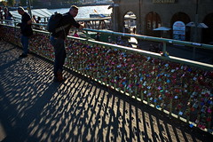 Locks (RadarO´Reilly) Tags: hamburg landungsbrücken germany hafen harbour schatten shadows street streetphotography